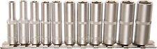 Set de llave tubular Profundo 1/4 Largo VASOS PULGADAS 11 piezas Pro Torque BGS