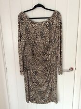 LK BENNETT long sleeved animal print dress size 18
