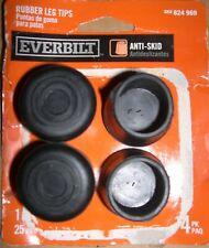 EVERBILT Anti-skid (4) 1 in. Rubber Leg Tips Black SKU 824 969