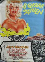 Filmplakat Es geschah in Athen - Jayne Mansfield   -  (gerollt) A1