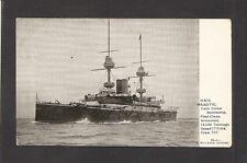 POSTCARD:  HMS MAJESTIC - BRITISH ROYAL NAVY PRE-DREADNOUGHT BATTLESHIP - Mailed