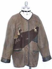 "LEATHER  JACKET Women Coat  BROWN German Hunting Western Sport 44 16 L B46"""