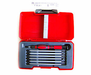 Teng Tools Mini Cacciavite IN Set Di 8 Pezzi, Maniglia & 120mm Lame TM708