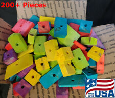 "200+ Large Wooden Parrot Bird Toy Parts ""Scraps and Uglies"" Cockatoo Amazon"