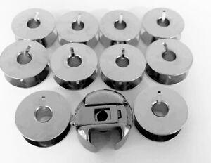 Spulenkapsel + 10 Metall Spulen für Husqvarna Viking Nähmaschinen 4100, 4300...
