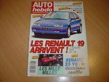 Auto hebdo N°626 Renault 25 V6 injection. Mile Miglia