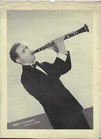 Press Photo: Benny Goodman King of Swing Jazz Big Band Leader Clarinet