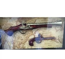 Replica gun in Glass Frame  Brand New Gift Or Collection