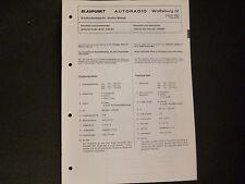 Original Service Manual Blaupunkt Autoradio Wolfsburg IV