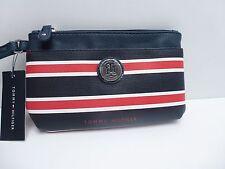 TOMMY HILFIGER Women's Wristlet/Wallet *Navy/Red Cellphone Holder Clutch New