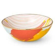 Oh Joy Target Porcelain Set Of 3 Serving BowLs Ceramic Gold Platter Serving NEW