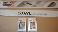 """6053 Stihl Schiene Schwert 90 cm 1,6 3/8""""  Rollomatic ES + 2x RS Kette"""