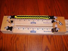 "23"" PARACORD BRACELET MAKING JIG  3 buckles & 2  posts w/shackle fasteners"