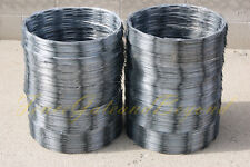 "RAZORWIRE RAZOR RIBBON BARBED WIRE 18"" 10 COILS 500 FEET COVERAGE"