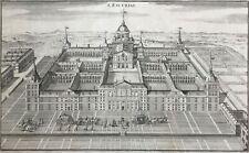 El Escorial Spain 1705 Madrid San Lorenzo l'Escurial by de Fer antique view