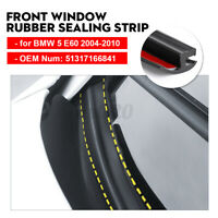 For BMW E60 5 Series 04-10 Front Window Windshield Rubber Seal Strip Moulding