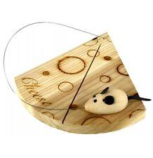 Placa de queso de madera 🧀 🧀 con alambre de corte y ratón Decoración 🐭
