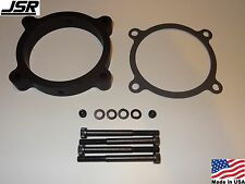 11-17 Mustang GT 5.0 Throttle Body Intake Spacer Plate 85mm Nitrous NPT BLACK