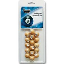 Pool Snooker Billiard Kelly Pool Replacement Spare TIMBER WOODEN Marbles