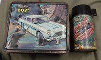 RARE Aladdin Lunchbox 1966 007 James Bond Secret Agent WITH THERMOS Vintage