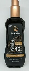 Australian Gold Spray Gel Sunscreen with Instant Bronzer SPF 15 - 8 FL oz NEW