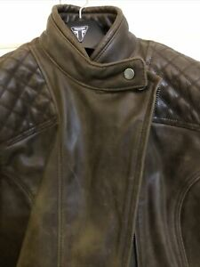 Genuine Triumph new Motorcycle Ladies leather Barbour Jacket XXL Approx SZ 16 18