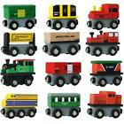 12 Piece Wooden Train Cars Magnetic Set Includes 3 Engines Magnet Train Toy