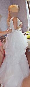 Brautkleid Hochzeitskleid 36 S vorne kurz, hinten lang mit schleppe