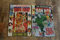 Iron Man #18 19 (Marvel Comics, 1969) Hydra app. Silver Age Lot of 2