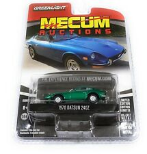 GREENLIGHT 1/64 1970 DATSUN 240Z BLUE MECUM AUCTIONS SERIES 2 CAR 37140B chase