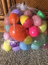 1 Pound Bag Of Unfilled Plastic Easter Eggs Assorted Colors Sizes