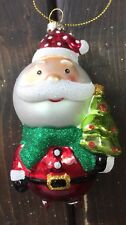 New Hand Blown Glass Christmas Tree Ornaments Santa Clause Fat Ball  Funky