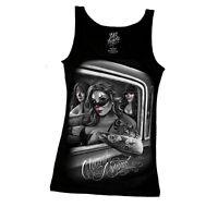 DGA David Gonzales Art Clownin Around Tattoo Biker Punk Ladies Tank Top S-2XL