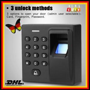 Fingerprint RFID Scanner Türöffner Türschloss Karte Fingerabdruck Passwort KFZ G