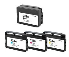 4-Pack/Pk Compatible 932XL 933XL Ink Cartridge For HP Officejet 6100 6600 6700