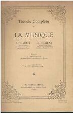 Théorie Complète de la musique - J.Chailley et H. Challan -Alphonse Leduc 1949