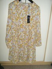 SIZE12 M & S LIMITED EDITION SKATER DRESS IN 1960'S STYLE  PRINT BNWT