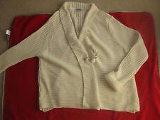 GOLD ladies chunky wool cardigan Uk12/14