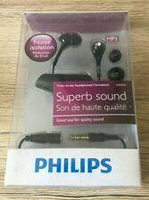 PHILIPS SUPERB SOUND IN EAR HEADPHONES BLACK BRAND NEW IN BOX