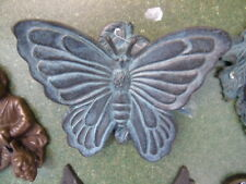 heurtoir , frappe porte en bronze patiné ,sonnette, un papillon , nouveau !!!