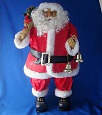 """24"""" paper suit Santa Claus figure with bells and gifts realistic face & hair"""