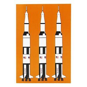 Design Set Raumfahrt – Notizheft A6: Saturn V Rakete Mondlandung, W. von Braun