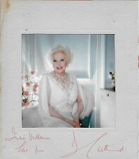 Hand Signed Mount With Photo By Author Dame Barbara Cartland, AFTAL Approved