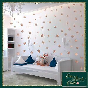 Rose Gold Star Wall Stickers Decal Child Vinyl Art Decor Spots  Baby Nursery