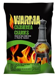 Chimenea Chunks Fire Pit Chunks Eco Fuel for Outdoor appliances from Warma