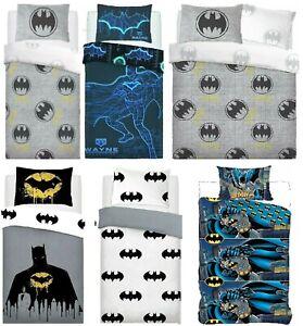 BATMAN DUVET COVER SET 2 IN 1 SINGLE DARK KNIGHT KIDS BEDDING CHILDREN'S GIFT