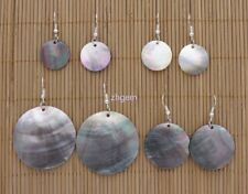 5f71e16be Natural Black Coin Shape Shell Mother of Pearl Drop Dangle Earring 20mm-40mm