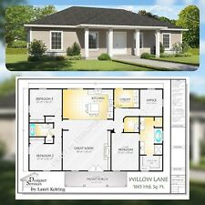 Willow Lane Custom Home House Building Plans 1650 sf
