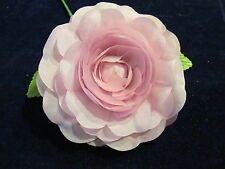 "Millinery Flower Pale Soft Pink Camelia 3 1/2"" Trim for Hat Wedding or Hair Y256"