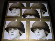 8 U2 PROMOTIONAL 12X12 CARDS - THE BEST OF 1980-1990